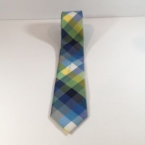 2/$15 - Checkered Tie blue, yellow, and green